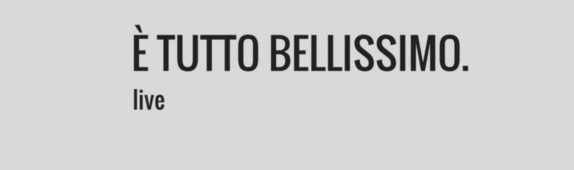 """Gianluca Montebuglio live con """"è tutto bellissimo"""""""